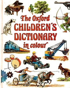 The Oxford Childrens Dictionary in colour.